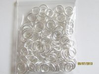 jump rings - silver 8mm (.07 gram bag)#JR13
