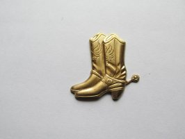 Brass Cowboy Boot #SAL8589