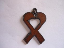 Awareness ribbon with heart #TT002H-L