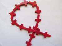 Red Cross Beads #1787