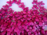 Pink Butterfly Beads #TU1088B