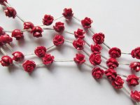 Red Resin Flower Beads #1642