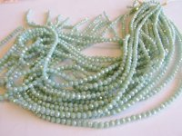 Mint green round faceted crystals 4mm #1577
