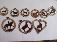 Livestock horse pendants SPECIAL WITH CRYSTALS - TSP3