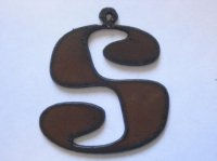 "Initial Letter Rowdy Metal ""S"" - Pendant #S-2"