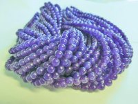 Purple glass rounds 7mm #1653