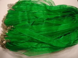 Ribbon necklace GREEN #SS44-GREEN