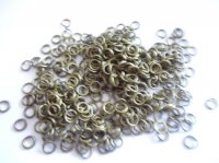 Jump rings - antique brass 20GRAMS-#JR3