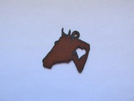 Horse Head with Heart #RR-026