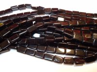 Black glass rectangle beads #1037