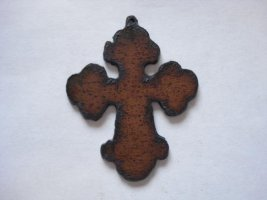 Cross cutout metal pendant #CC006L-2