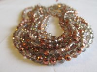 Copper round faceted crystals #1598