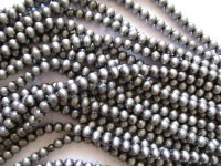 silver faux Navajo Indian pearls acrylic round 16mm #1278-16