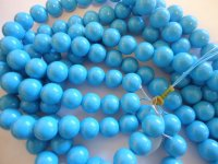 Turquoise glass rounds #1391