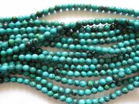 Turquoise green 10mm round beads #1831