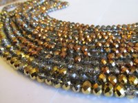 Bronze and clear crystals #1574