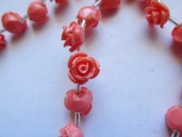 Peach acrylic flowers 11mm #1468