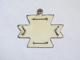 "Aztec White Cross Pendant 2"" - #WKS-25"